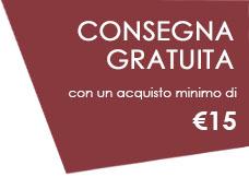 Consegna gratuita sopra i 15 Euro
